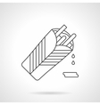 Burritos flat thin line icon vector image vector image
