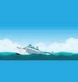 capsized cruise ship vector image