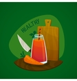 Carrot Juice Concept vector image vector image