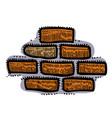 cartoon image of wall icon wall brick symbol vector image vector image