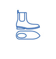 chelsea boots line icon concept chelsea boots vector image vector image