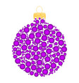 christmas bauble dotted design isolated on white vector image vector image