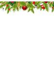 Christmas Border With Xmas Garland vector image vector image