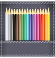 Collection of pencils in the pocket vector image vector image