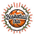 Color vintage basketball emblem vector image