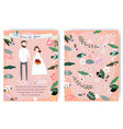 cute cartoon bride and groom wedding card vector image vector image