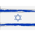 design flag israel from torn papers with shadows vector image vector image