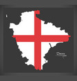 devon map england uk with english national flag vector image vector image