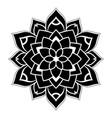 dotted black mandala vector image vector image