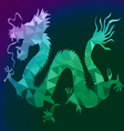 Dragon with polygon on isolate background vector image