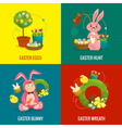 Easter compositions concept web banner square vector image