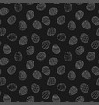 easter eggs seamless pattern in doodle style hand vector image