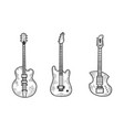 electric guitar set sketch vector image vector image