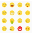 Emoticons set yellow website emoticons vector image
