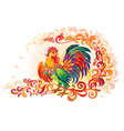 Fire Decor Rooster vector image vector image