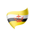 flag on a white background vector image vector image