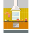 flat kitchen vector image vector image