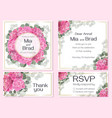 floral invitation card rsvp thank you beautiful vector image vector image