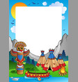 frame with indian village vector image