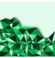 Geometric abstract background in green tones vector image vector image