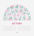 gut flora concept in half circle vector image vector image