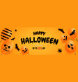halloween sale promotion banner with vector image