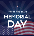 happy memorial day design card flag vector image vector image