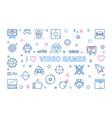 i love video games outline banner concept vector image