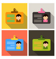 id card for businessman flat design style with vector image