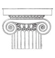 ionic capital the temple of minerva polias at vector image vector image
