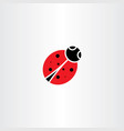 ladybug icon symbol element vector image