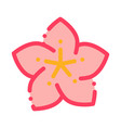 lotus flower icon outline vector image vector image