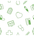 Medical icons seamless background pattern vector image
