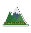 mountains and forest icon vector image