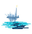 Oil platform polluted the ocean