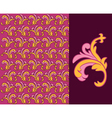 Ornate damask background vector image vector image