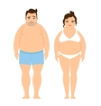 Overweight man and woman vector image