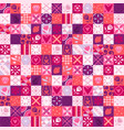 pink valentine pattern vector image vector image