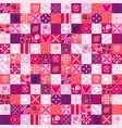 pink valentine pattern vector image