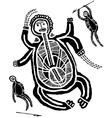 Prehistoric art of hunting warriors vector image