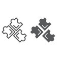 Puzzle line and glyph icon leisure and game