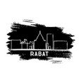 rabat morocco city skyline silhouette hand drawn vector image vector image