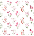 Seamless pattern with stylized cute flowers - vector image