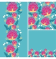 set colorful flowers seamless pattern and vector image