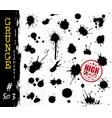 set grunge style blood or ink splatter vector image vector image