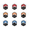 set mountain logo template vector image