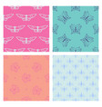set of abstract seamless pattern for girls clothes vector image vector image