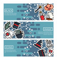 set of horizontal banners about black magic vector image vector image