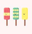 set of ice-creams vector image vector image