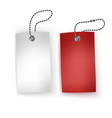 set of realistic tags business blank retail card vector image